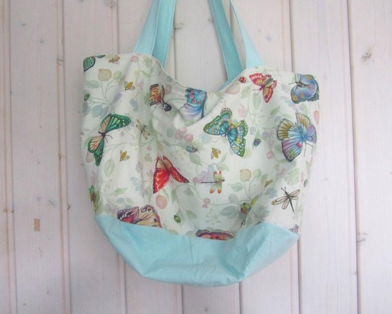 - Einkaufstasche, Tortentasche, Universaltasche , Schmetterlinge, handmade, - Einkaufstasche, Tortentasche, Universaltasche , Schmetterlinge, handmade,