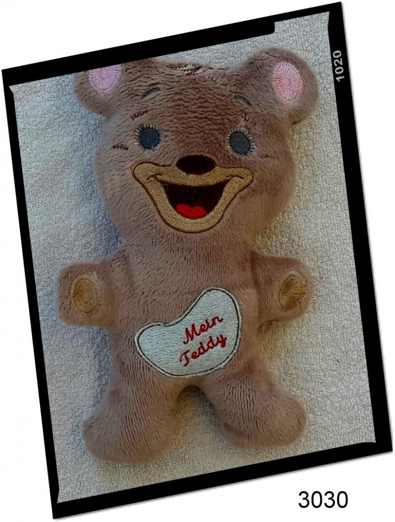 - Kuscheltier Teddy, selbst gemacht, 27 cm groß! - Kuscheltier Teddy, selbst gemacht, 27 cm groß!