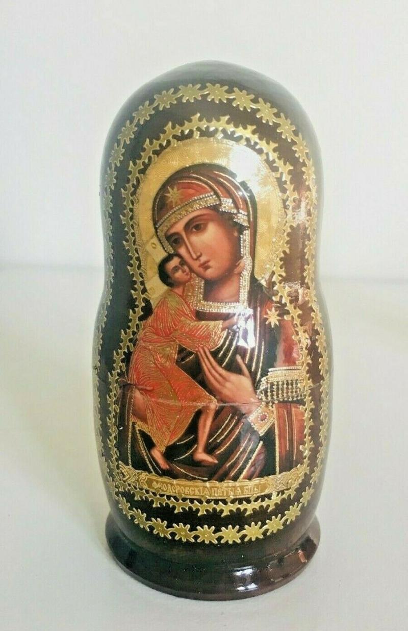 Kleinesbild - Handgearbeitete 5-er Matroschka Mutter Gottes von