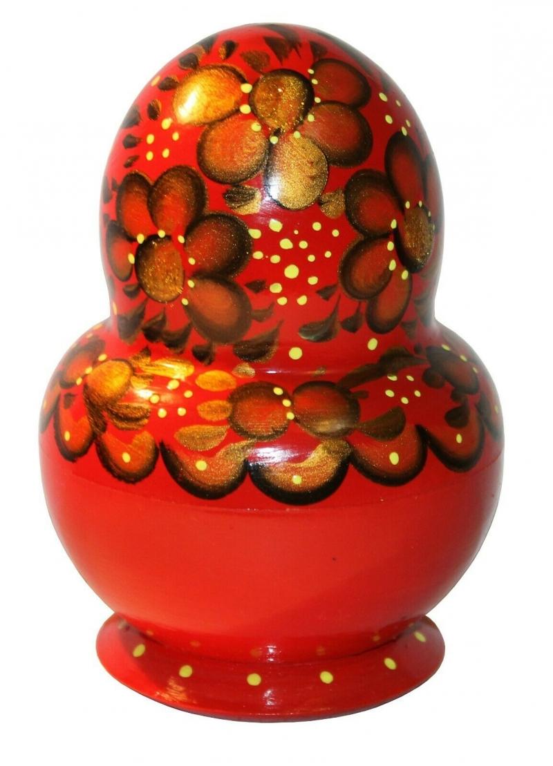Kleinesbild - Handbemalte Matroschka m. 10 Einzelpuppen, Holz, Unikat, 13 cm hoch