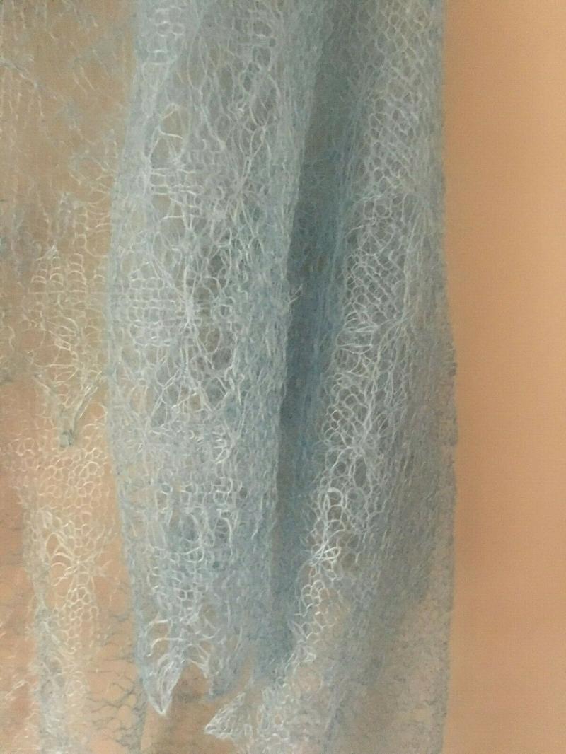 - Luxus-Orenburg-Schal aus Ziegenwolle mit 20% Seide, 140 x 140 cm, Farbe: wasserfarben - Luxus-Orenburg-Schal aus Ziegenwolle mit 20% Seide, 140 x 140 cm, Farbe: wasserfarben