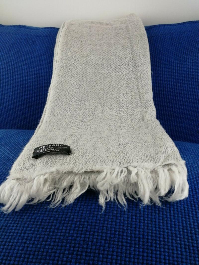 Kleinesbild - Handgearbeiteter Schal mit 100% Cashmere-Wolle aus Nepal, 200 x 70 cm, Unikat