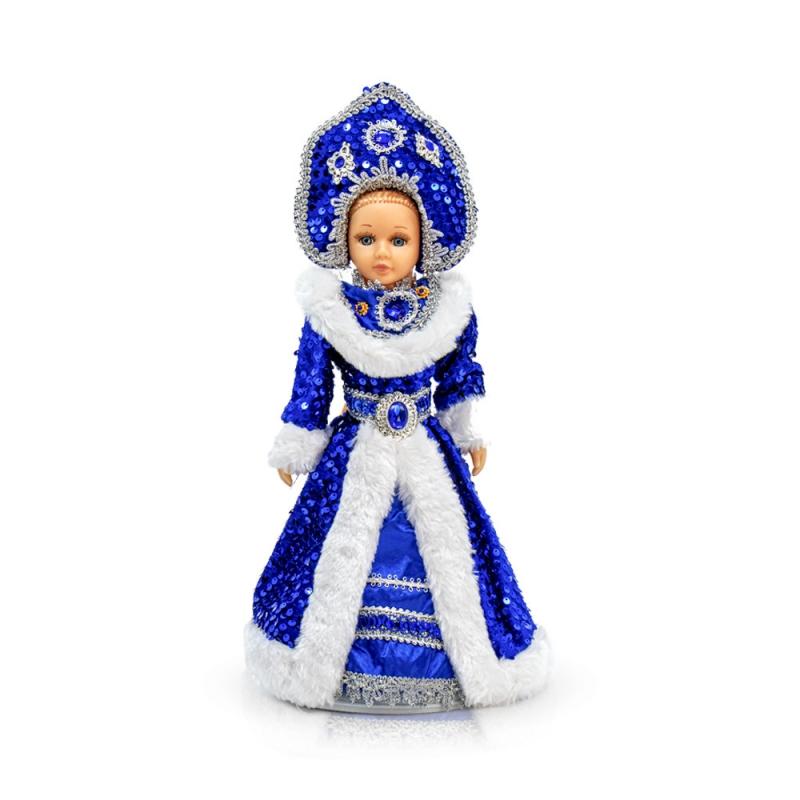 - Snegurotschka, Dekorartikel, 35 cm, royal-blau, mit Fach für Geschenke - Snegurotschka, Dekorartikel, 35 cm, royal-blau, mit Fach für Geschenke
