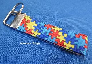 - ♡ Schlüsselband / Schlüsselanhänger ♡ Puzzle Autismus - ♡ Schlüsselband / Schlüsselanhänger ♡ Puzzle Autismus
