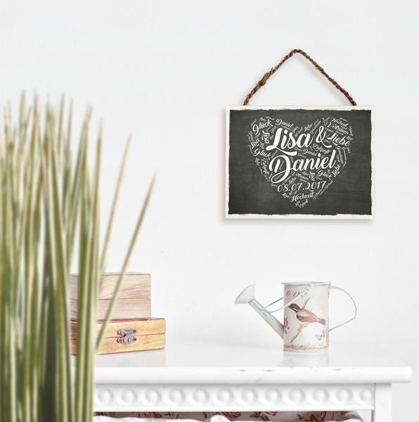 Kleinesbild - Hochzeitsgeschenk - Holzschild