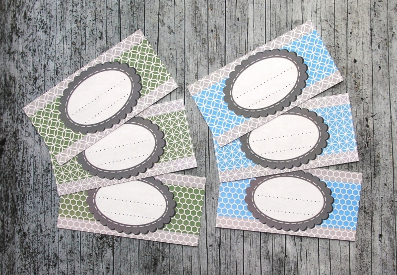 Kleinesbild - Einmachetiketten **geMustert1** von ZWEIFARBIG 12 Stück gummiertes Papier Aufkleber Marmeladenetikett Sticker Dekoration
