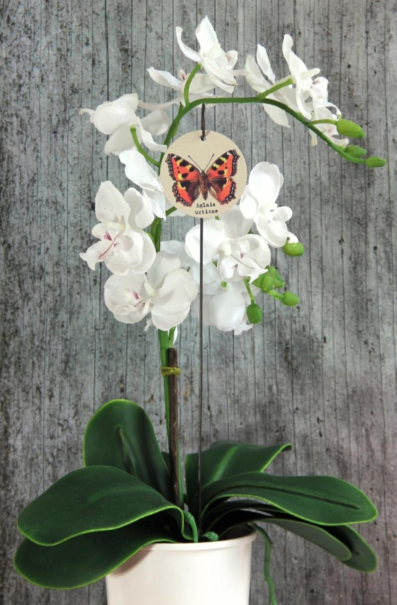 Kleinesbild - Blumenstecker **Kleiner Fuchs** von ZWEIFARBIG Blumenschmuck Tischdeko homedeko Geschenk Dekoration Geburtstag Hauseinweihung