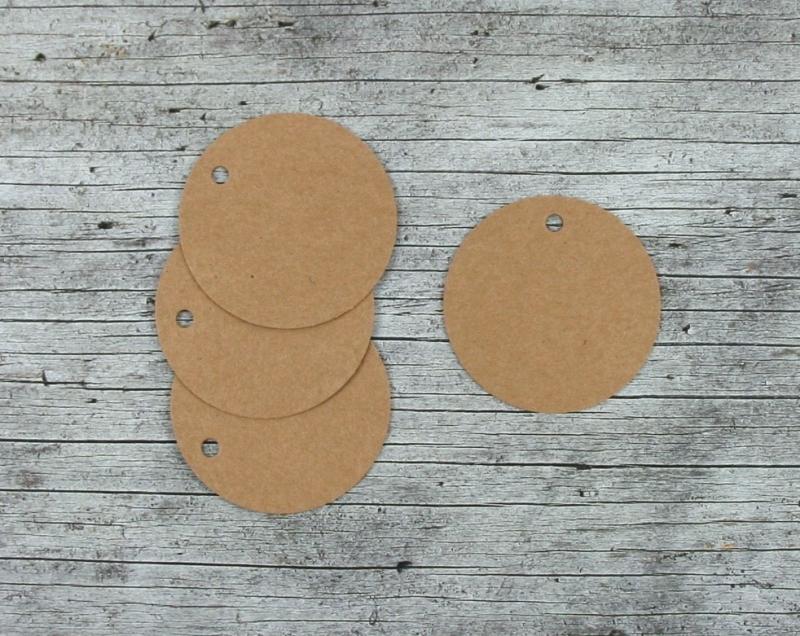 Kleinesbild - Anhänger **Natur6** rund 20er Set von ZWEIFARBIG DIY Kraftpapier Geschenkdeko Weihnachten Geburtstag