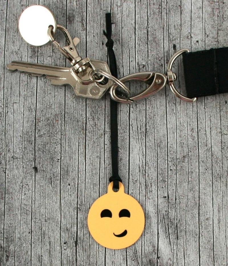 Kleinesbild - Anhänger **Nur kein Stress** von ZWEIFARBIG 3,2cm Glücksbringer Schlüsselanhänger Taschenanhänger Geschenk Einschulung Kindergarten Geburtstag