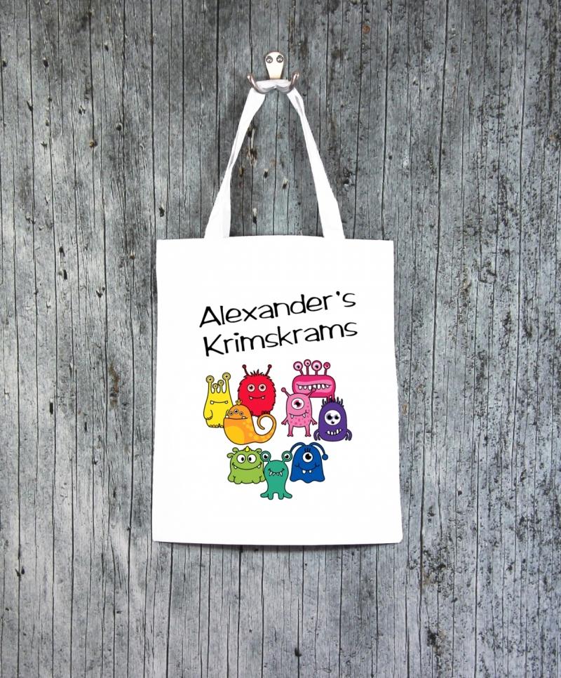 Kleinesbild - Stofftasche MonstAAA7 von ZWEIFARBIG Einkaufsbeutel Geburtstag Geschenk Kindergarten Schulanfang Turnbeutel