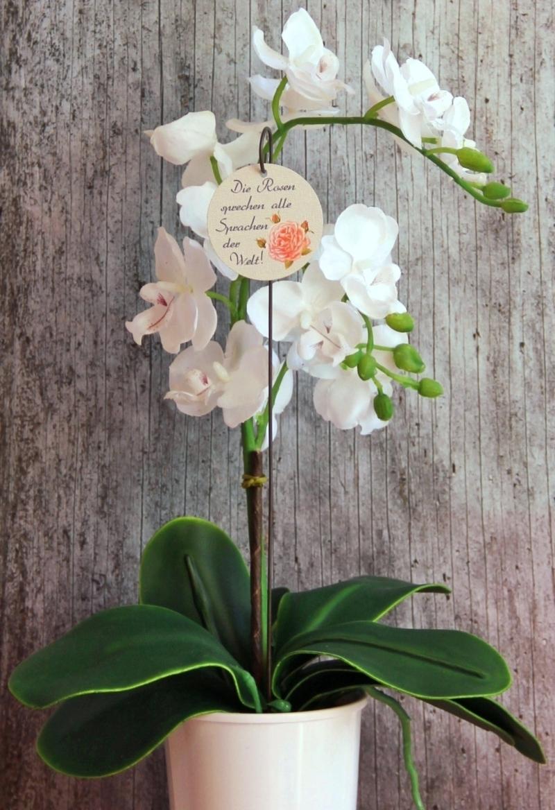 Kleinesbild - Blumenstecker Poesie9 Rose rosa Blumenschmuck Geburtstag Geschenk Valentinstag Hochzeit homedeko Dekoration
