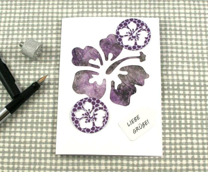 - Glückwunschkarte Hibiskus2 DinA6 mit Umschlag Einzelstück von ZWEIFARBIG Kartengruß Klappkarte Grußkarte - Glückwunschkarte Hibiskus2 DinA6 mit Umschlag Einzelstück von ZWEIFARBIG Kartengruß Klappkarte Grußkarte