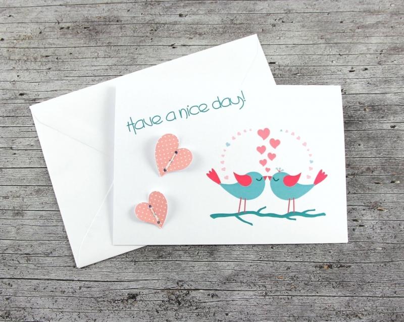 Kleinesbild - 3D-Klappkarte **Vogelhochzeit3** von ZWEIFARBIG Grußkarte Hochzeit Glückwünsche Valentinstag Liebeskarte Hochzeitskarte 3D-Karte