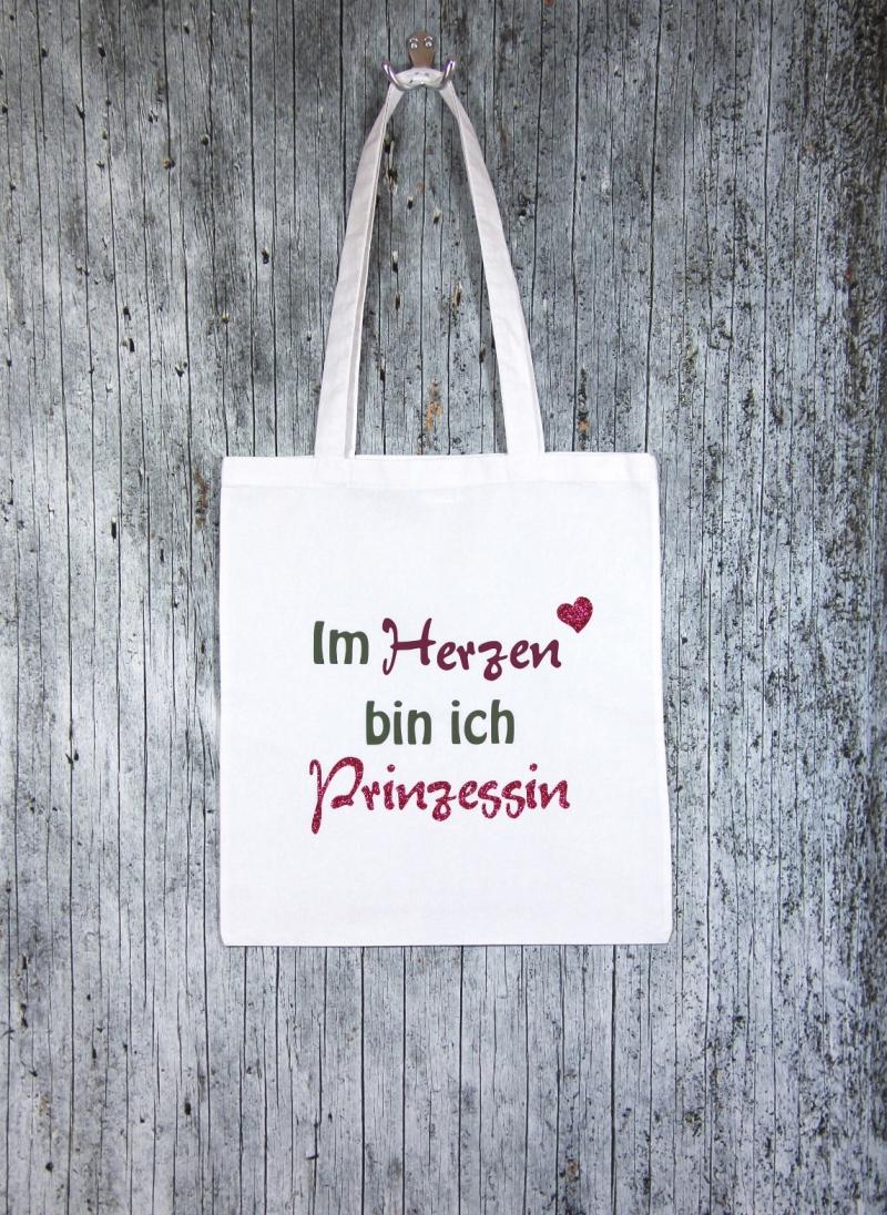 Kleinesbild - Stofftasche Prinzessin von ZWEIFARBIG Einkaufsbeutel Baumwolltasche Geburtstag Muttertag Geschenk Shopper Einkaufstasche Stoffbeutel