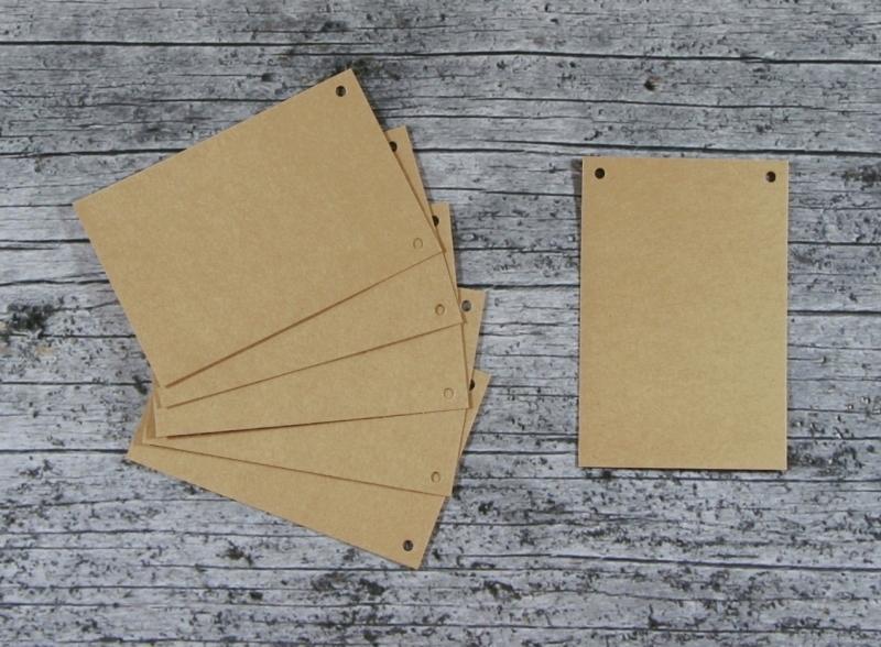 Kleinesbild - Wimpelkette **VierECK** 15er Set von ZWEIFARBIG DIY Kraftpapier Dekoration Weihnachten Geburtstag Geburt Hochzeit
