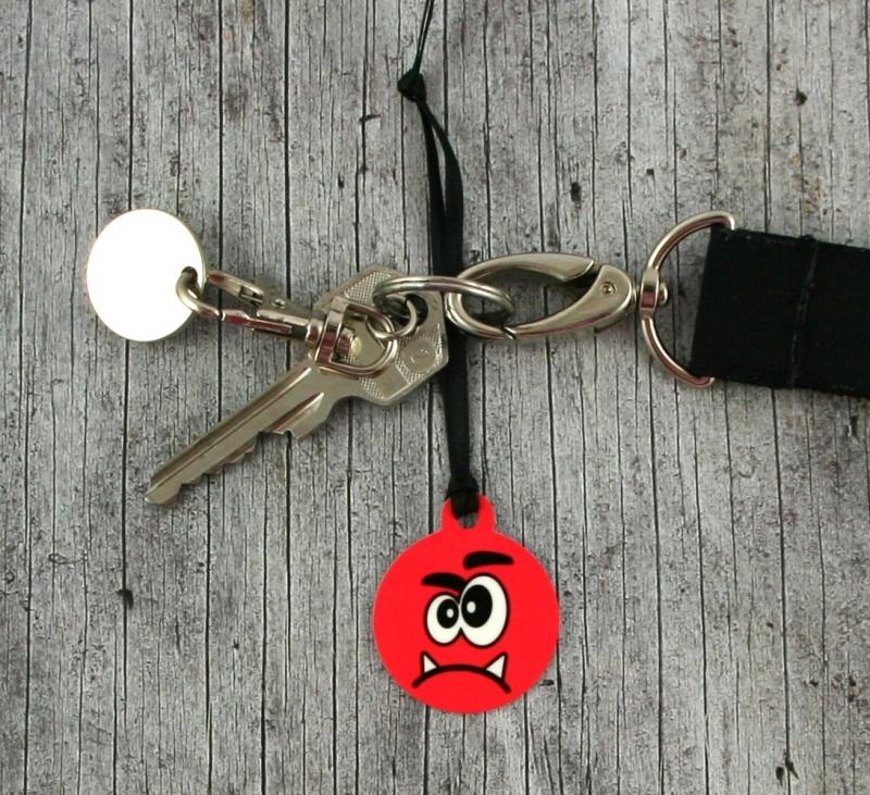 Kleinesbild - Anhänger **Herr Grummel** von ZWEIFARBIG 3,2cm Glücksbringer Schlüsselanhänger Geschenk Einschulung Taschenanhänger Kindergarten Geburtstag