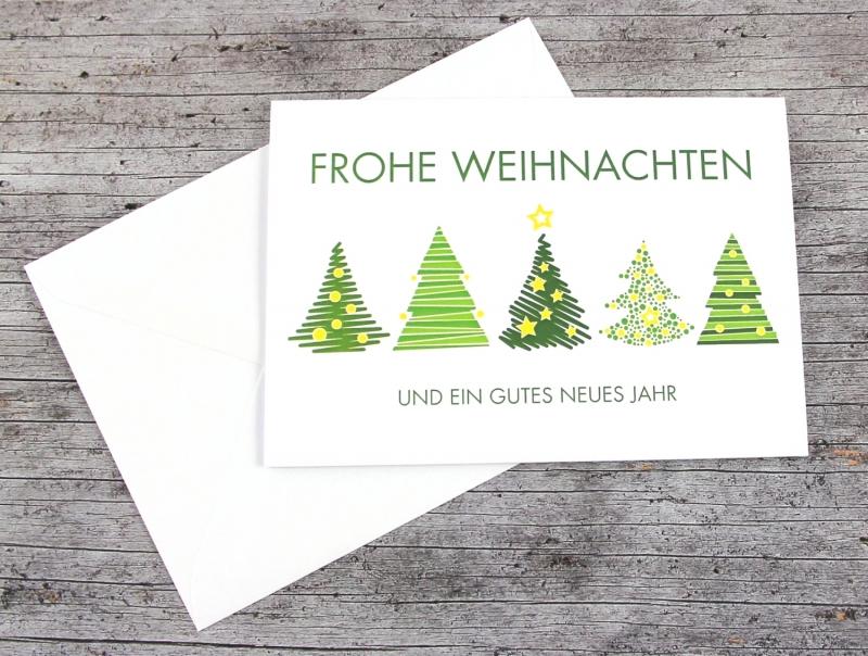 - Klappkarte **Grüne Bäume** von ZWEIFARBIG Weihnachtswünsche Frohe Weihnachten Grußkarte Weihnachtskarte Weihnachtsgrüße Baum - Klappkarte **Grüne Bäume** von ZWEIFARBIG Weihnachtswünsche Frohe Weihnachten Grußkarte Weihnachtskarte Weihnachtsgrüße Baum
