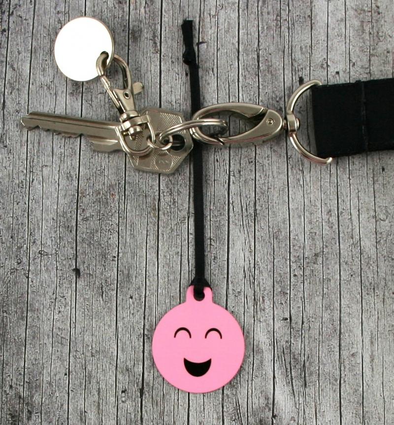 Kleinesbild - Anhänger **Freude pur** von ZWEIFARBIG 3,2cm Glücksbringer Schlüsselanhänger Taschenanhänger Geschenk Einschulung Kindergarten Geburtstag