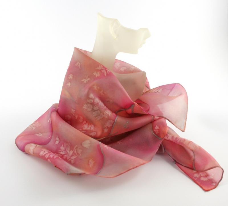 Kleinesbild - Seidentuch 55x55 cm Rosenholz von ZWEIFARBIG Accessoire Nickituch Halstuch Geschenk für Frauen