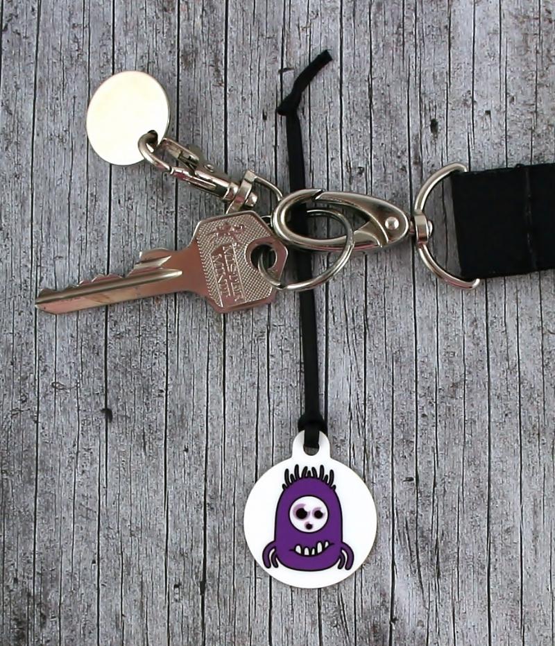 Kleinesbild - Anhänger **MonstAAA20** von ZWEIFARBIG 3,2cm Glücksbringer Schlüsselanhänger Taschenanhänger Geschenk Einschulung Kindergarten Geburtstag
