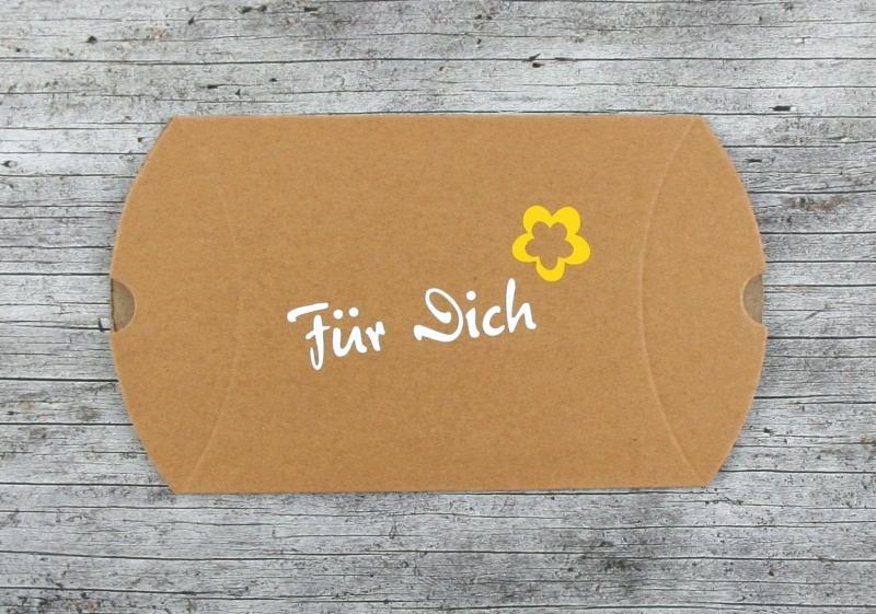 - Faltschachtel **FürDich2** von ZWEIFARBIG Kraftpapier Schachtel Geschenkverpackung Geburtstag Geschenkschachtel Pillowbox Geldgeschenk Geschenkbox - Faltschachtel **FürDich2** von ZWEIFARBIG Kraftpapier Schachtel Geschenkverpackung Geburtstag Geschenkschachtel Pillowbox Geldgeschenk Geschenkbox