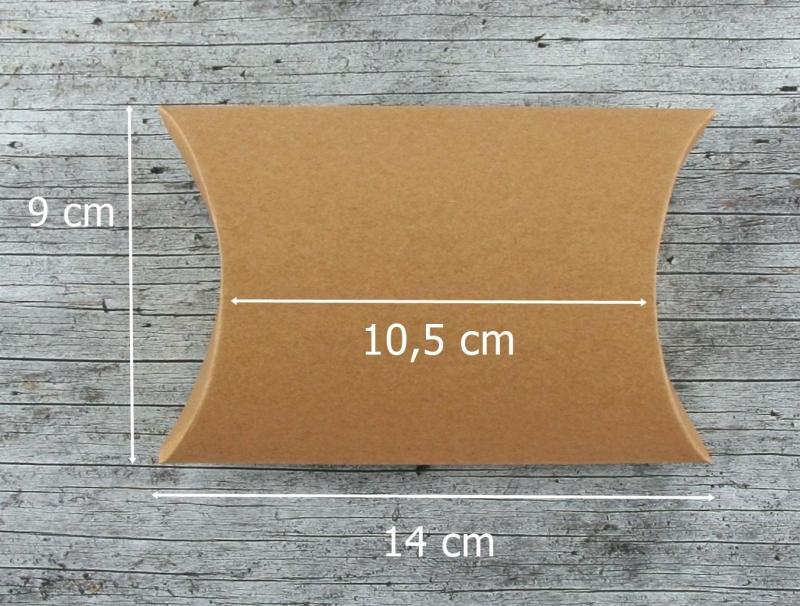 Kleinesbild - Faltschachtel **FürDich2** von ZWEIFARBIG Kraftpapier Schachtel Geschenkverpackung Geburtstag Geschenkschachtel Pillowbox Geldgeschenk Geschenkbox