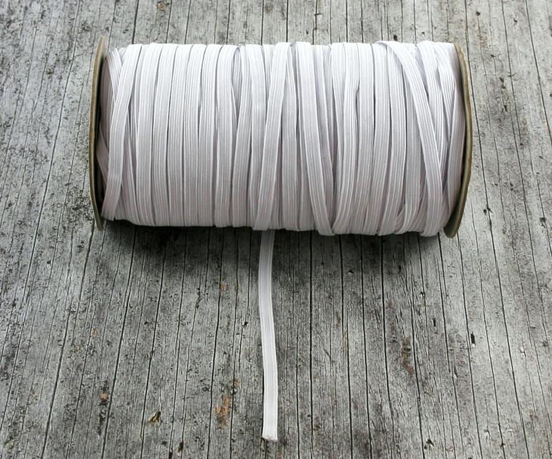 - Flachgummi **5mm** grauweiß textilumflochten Gummizugschnur DIY Mundmaske - Flachgummi **5mm** grauweiß textilumflochten Gummizugschnur DIY Mundmaske