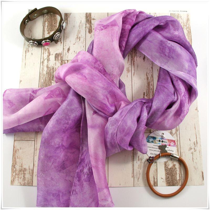 Kleinesbild - Seidenschal 180x45 cm **DUETT** Unikat von ZWEIFARBIG besonderes Accessoire handgefärbter Schal für alle Anlässe