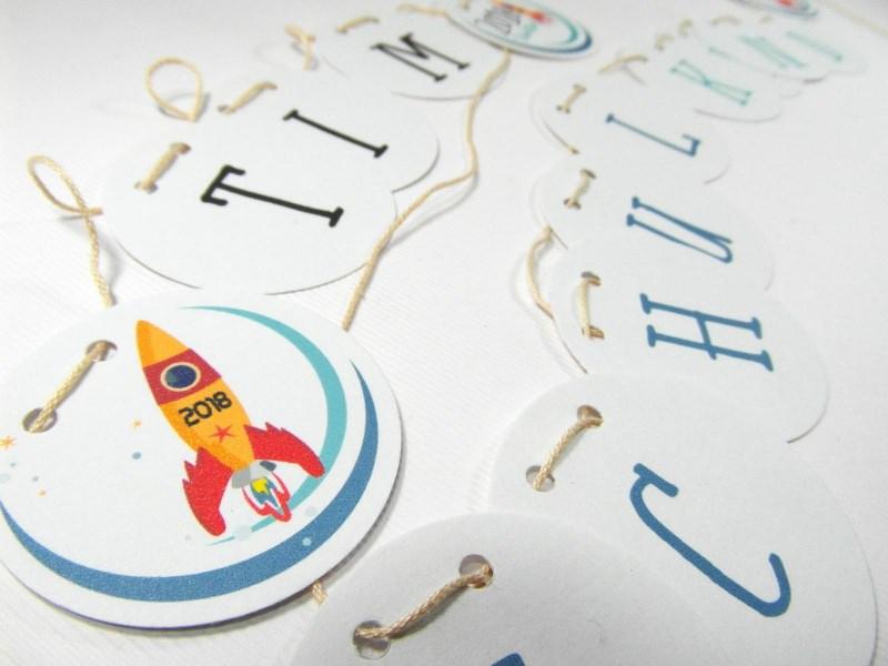 Kleinesbild - Girlande Schulanfang Jungen Schulkind Schulstart 2018
