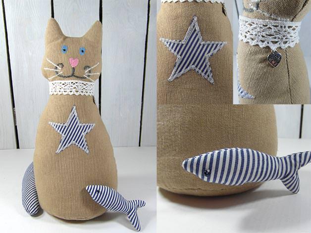 Kleinesbild - Türstopper Katze Stopper für Tür & Fenster Feststeller Türpuffer