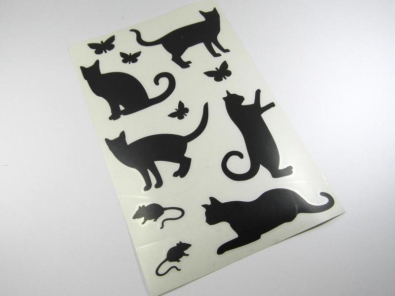 - Wandtattoo Laptop Aufkleber Sticker Katze Maus  - Wandtattoo Laptop Aufkleber Sticker Katze Maus
