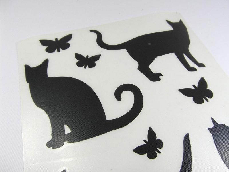 Kleinesbild - Wandtattoo Laptop Aufkleber Sticker Katze Maus