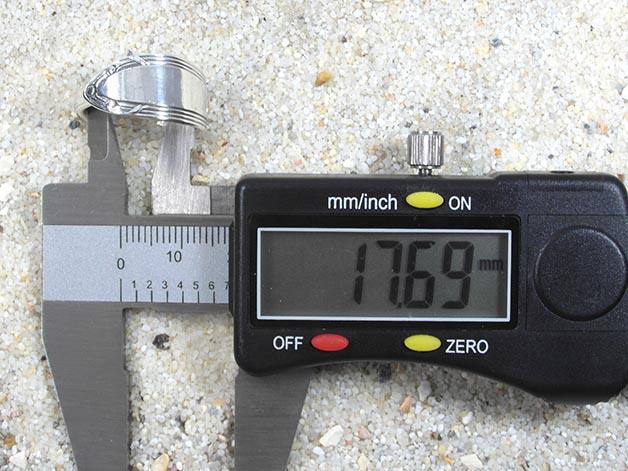 Kleinesbild - Silberring Ring Besteckschmuck Jugendstil Linien Wickelring Tafelbesteck
