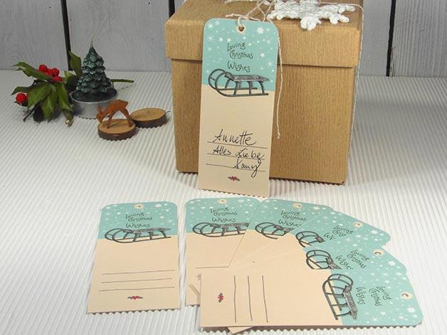 anl sse geschenkanh nger weihnachten weihnachtsgeschenk deko schlitten sterne. Black Bedroom Furniture Sets. Home Design Ideas