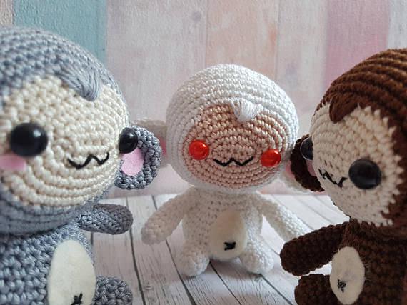 Kleinesbild - Gehäkeltes Amigurumi Affe aus Baumwolle wähle deine Lieblingsfarbe!