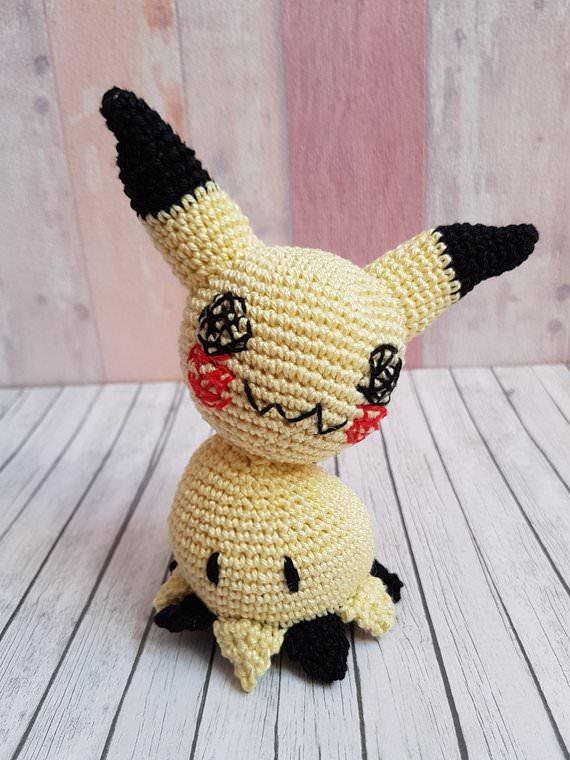 - Gehäkeltes Amigurumi inspiriert von Mimigma gefertigt aus Baumwolle - Gehäkeltes Amigurumi inspiriert von Mimigma gefertigt aus Baumwolle