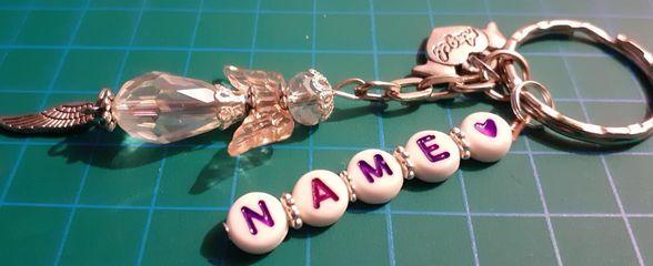 - - Schutzengel Schlüsselanhänger  personalisiert mit Wunschname- das besondere Geschenk- - - Schutzengel Schlüsselanhänger  personalisiert mit Wunschname- das besondere Geschenk-