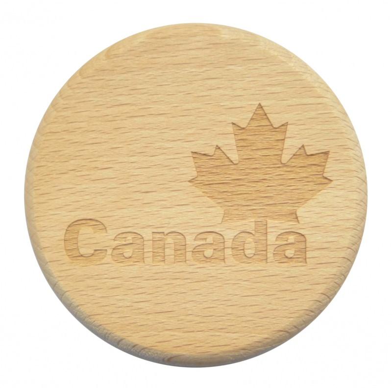 - Bierglasdeckel Canada Gravur Buche Kanada Maple Leaf - Bierglasdeckel Canada Gravur Buche Kanada Maple Leaf
