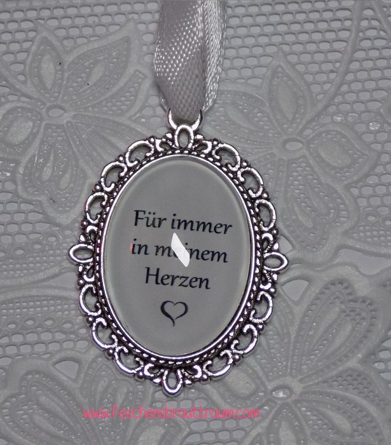 Anlässe : Memorial für den Brautstrauß oval silber - Amulett, Medaillon