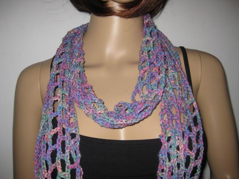 - Schmuckschal, Schal aus weicher Baumwolle, auf viele Arten tragbar  - Schmuckschal, Schal aus weicher Baumwolle, auf viele Arten tragbar