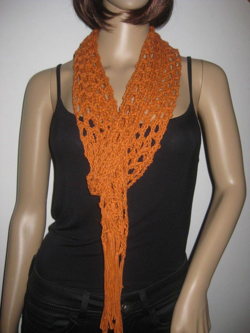 Kleinesbild - Schmuckschal, Schal aus Leinen und Baumwolle, auf viele Arten tragbar