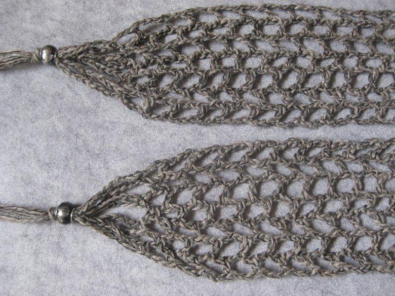 Kleinesbild - Schmuckschal, Schal mit Leinen, auf viele Arten tragbar