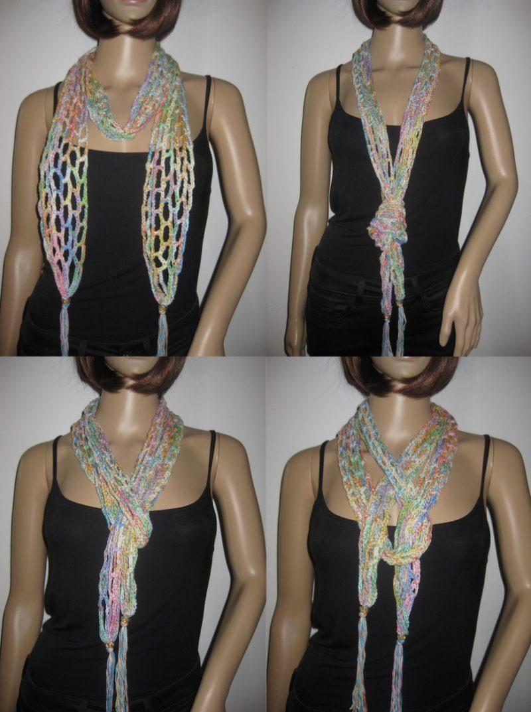 - Schmuckschal, Schal mit Baumwolle, auf verschiedene Arten tragbar  - Schmuckschal, Schal mit Baumwolle, auf verschiedene Arten tragbar