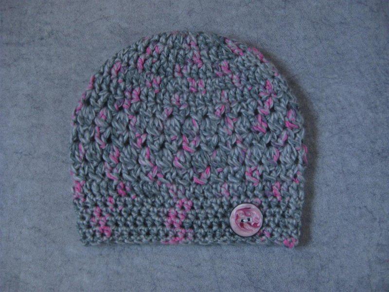 Kleinesbild - Mütze mit Mohair, Beanie im Boshi Style, Häkelmütze