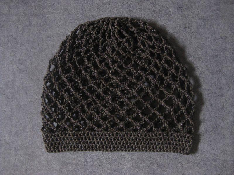 Kleinesbild - Mütze, schwarzbraun glänzend, Sommermütze, Beanie