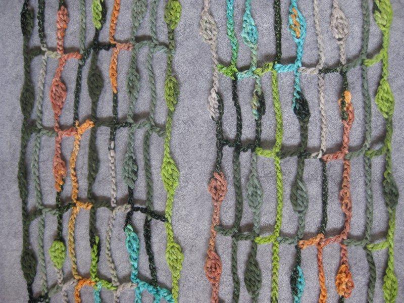 Kleinesbild - Schmuckschal, Ausgefallener bunter Häkelloop aus Effektgarn