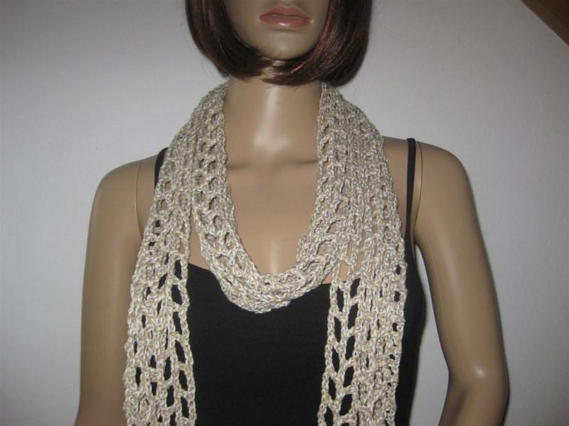Kleinesbild - Schmuckschal, Schal aus weicher Baumwolle, auf viele Arten tragbar