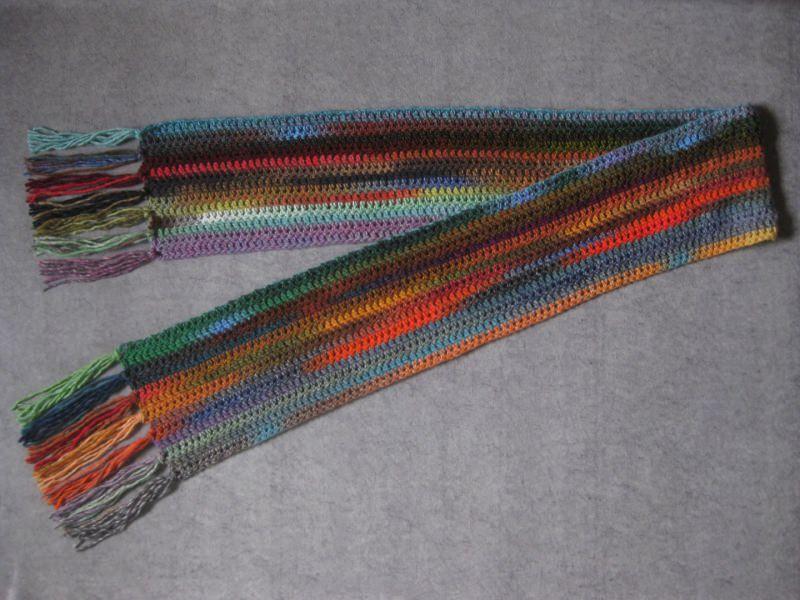 Kleinesbild - Schal in wunderschönen Farben, extralang, Stola, Häkelschal