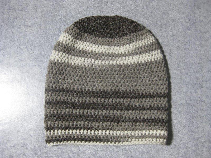Kleinesbild - Mütze, Beanie im Boshi Style, Häkelmütze mit Farbverlauf