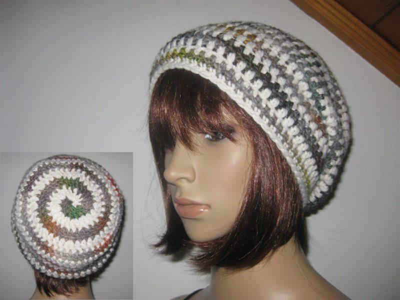 - Mütze, Beanie im Spiral-Design, Häkelmütze, Boshi Style - Mütze, Beanie im Spiral-Design, Häkelmütze, Boshi Style